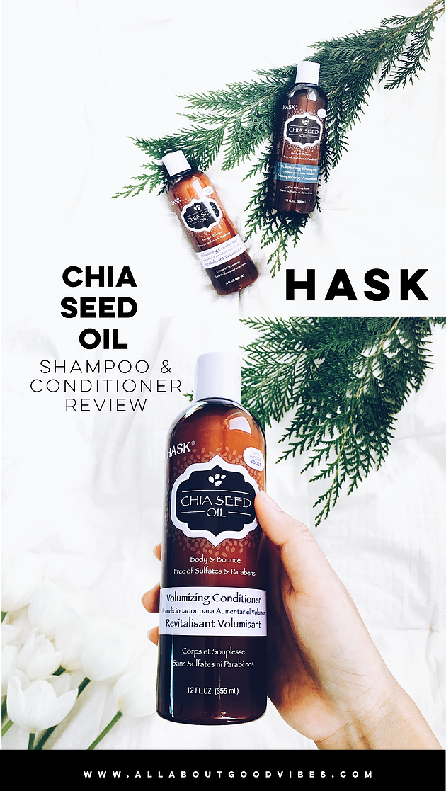 HASK Chia Seed Oil Volumizing Collection Review #haskhair #hairbyhask #HaskChiaSeedOil #sponsored