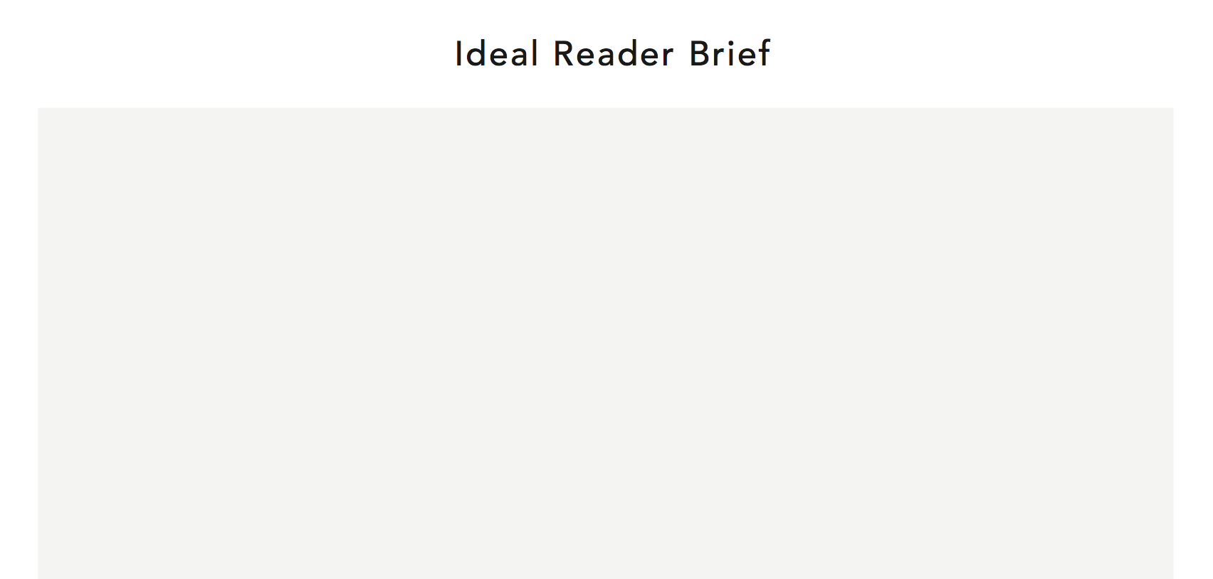 THE ULTIMATE GUIDE TO CREATE ACCURATE IDEAL READER (CUSTOMER) PROFILES FOR YOUR BLOG AND BUSINESS