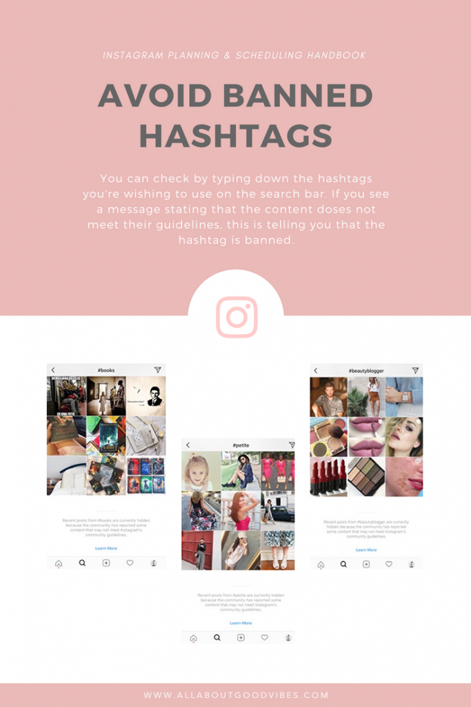 Free Ebook of Instagram Tips | Avoid banned hashtags
