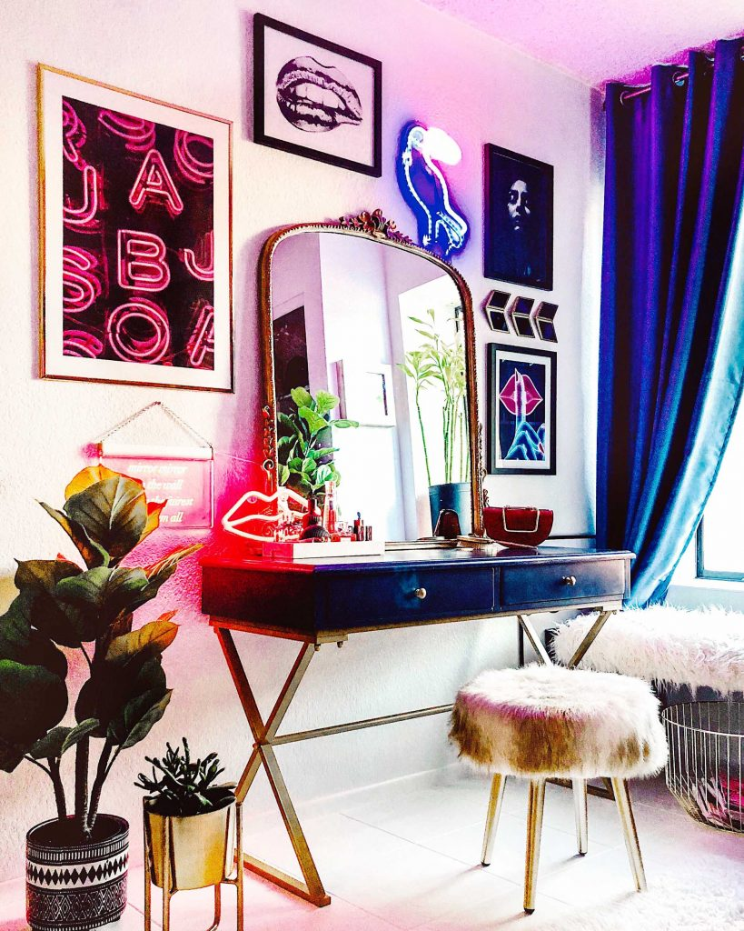 Modern Eclectic Vanity With Desenio All About Good Vibes