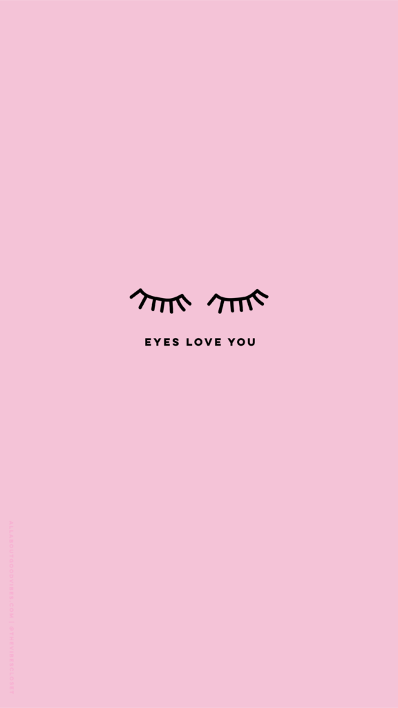 Free pink Eyes love you phone wallpaper