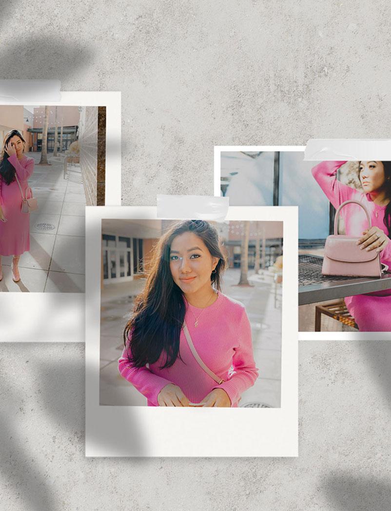 Pink Micro Top Handle| Vegan Handbag | The V Armoire