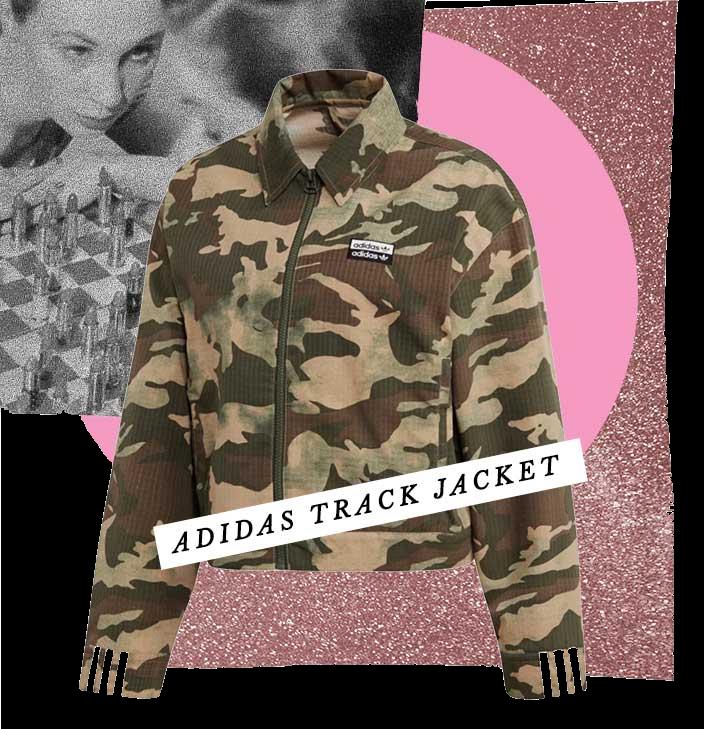 Camouflage Jacket Womens jacket Camouflage Womens Jacket Camouflage Jacket for Women Allaboutgoodvibes.com Adidas jackets Adidas women's clothes track jacket
