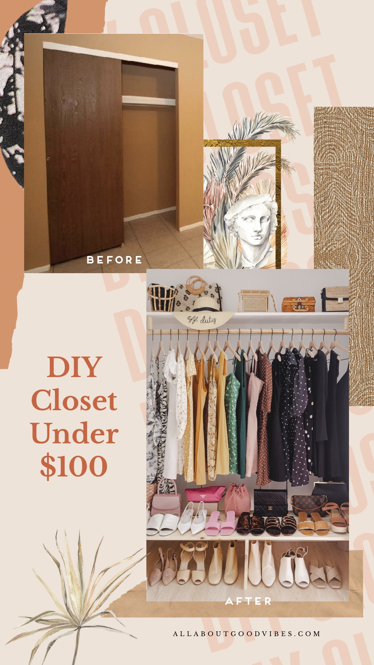 DIY Closet Under $100 | Guest Bedroom