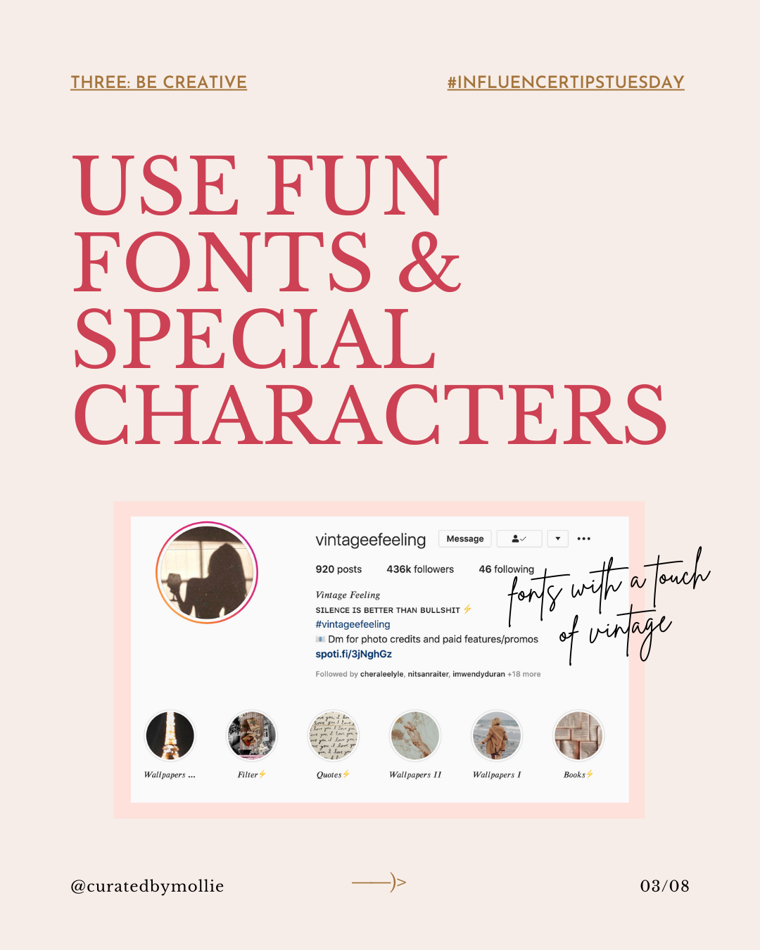 Lesson Three: Perfecting Your Instagram Profile Workbook _ #InfluencerTipsTuesday-#3