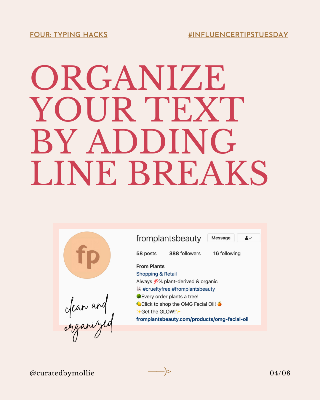 Lesson Three: Perfecting Your Instagram Profile Workbook _ #InfluencerTipsTuesday-#4